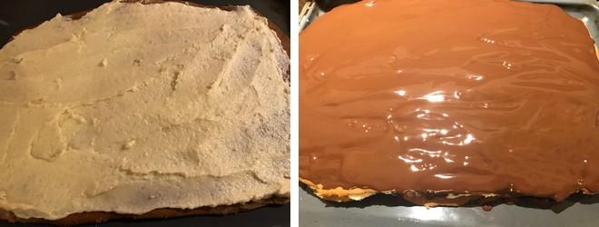 medové rezy pláty čokoláda