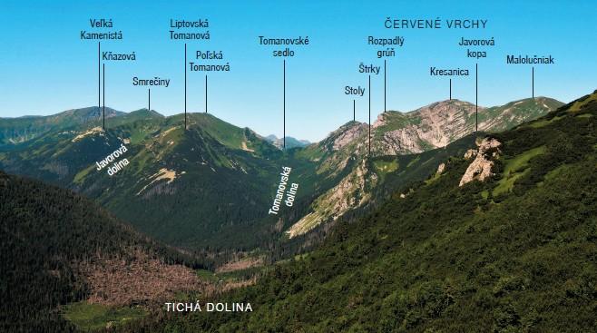 Pohľad na Tichú dolinu z výstupu na Kasprov vrch