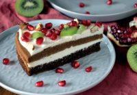 Ľahká tvarohová torta sbielou čokoládou