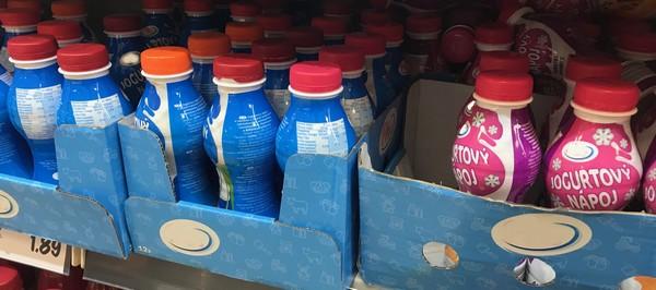 jogurtové nápoje ilustračný obrázok