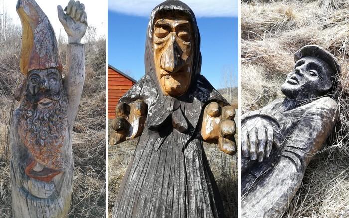 sochy pred jaskyňou Domica