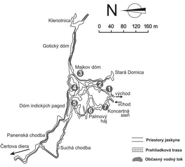mapa Jaskyňa Domica