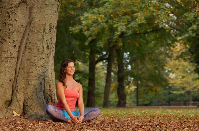 hormonálna joga v lese