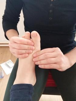 masáž chodidiel