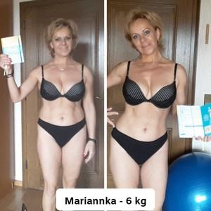 Mariannka schudla do plaviek
