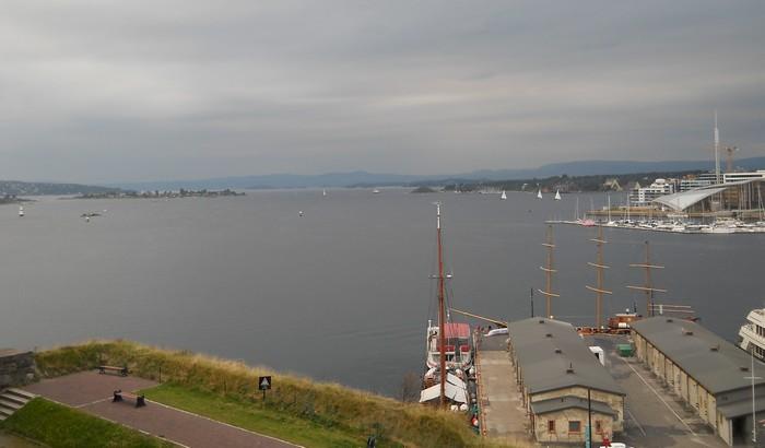 Výhľad na záliv v Oslo.