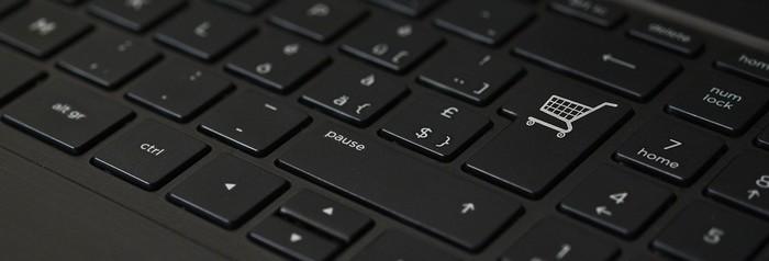 klávesnica košík nákup