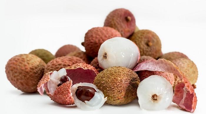liči typické ovocie pre juhovýchodnú Áziu