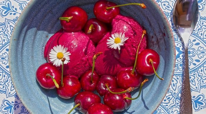 čerešňový sorbet recept letné dezerty