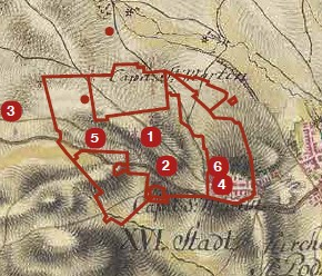 mapa Spišský Jeruzalem staroveký Jeruzalem
