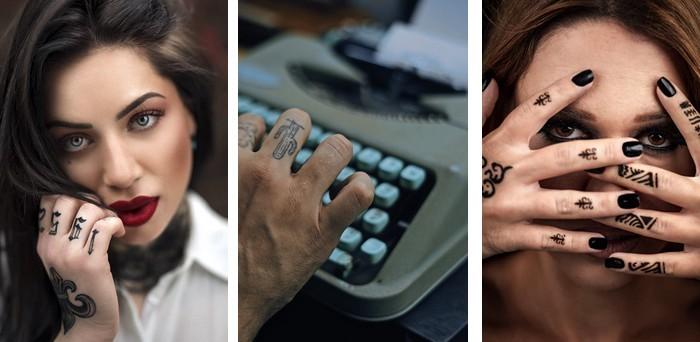 tetovanie na prstoch