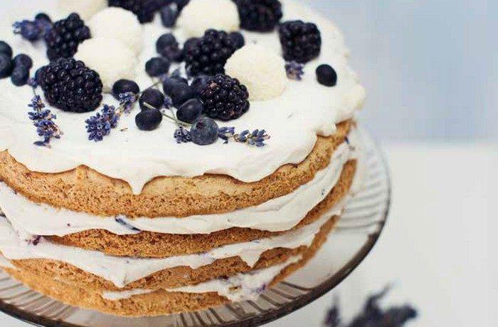 vanilkovo-čučoriedková torta | recept