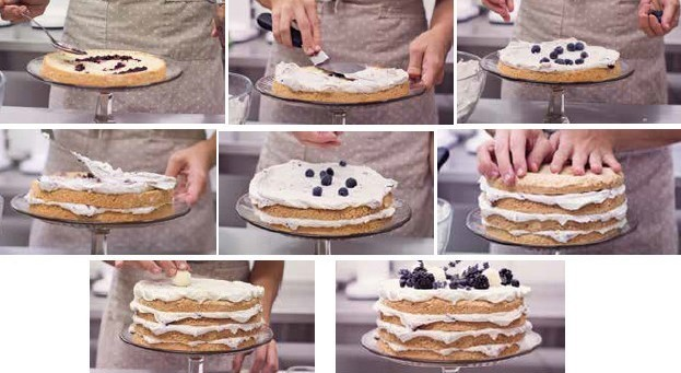 vanilkovo-čučoriedková torta | recept postup
