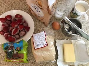 suroviny na jahodové gule