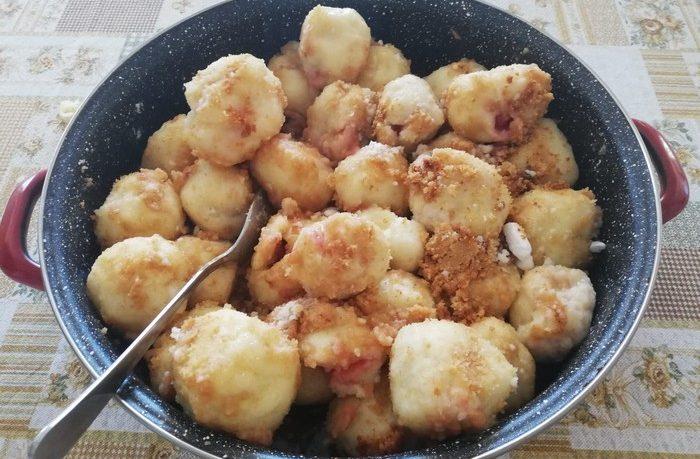 recept na jahodové gule, gombolce