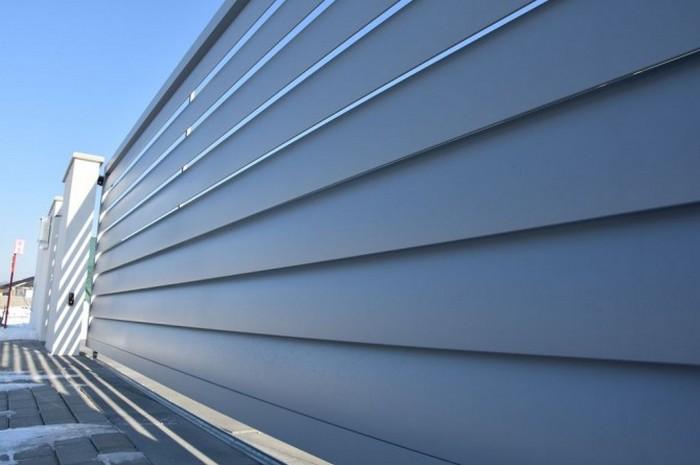Moderný hliníkový plot Aero