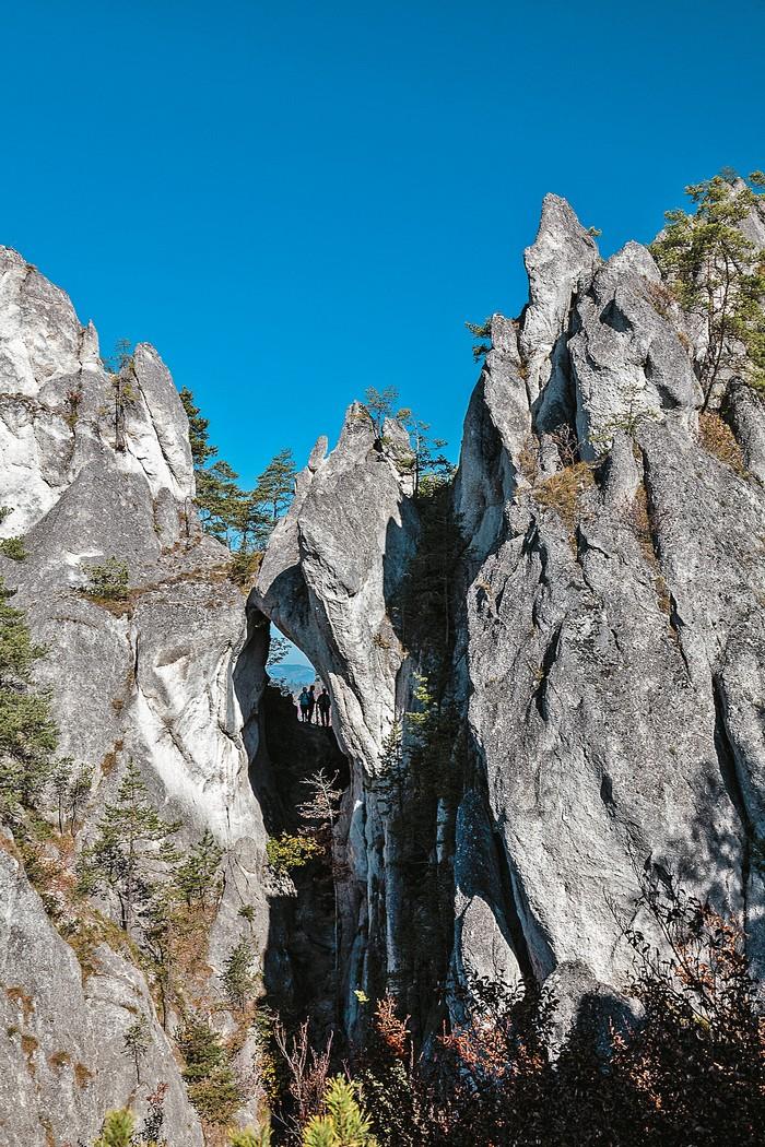 súľovské skaly gotická brána