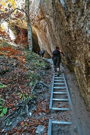 rebríky do Šarkanej diery