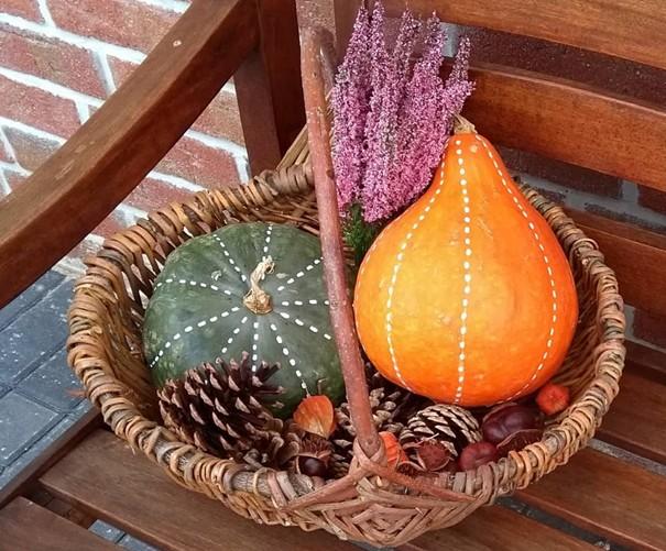 jesenné dekorácie - tekvice