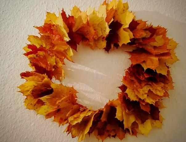 jesenné dekorácie - venček