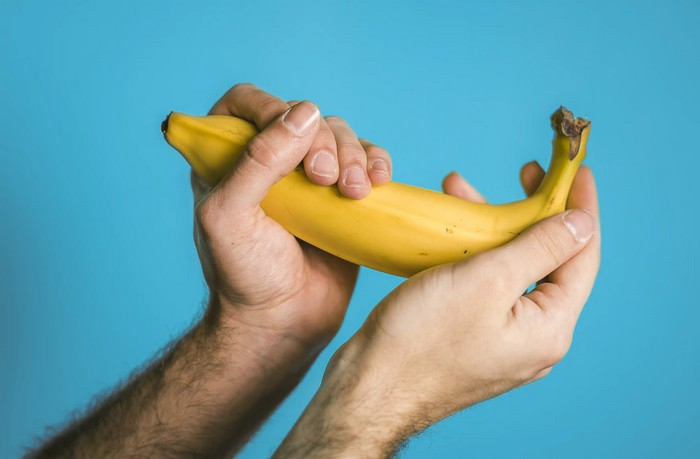 banán a šupka