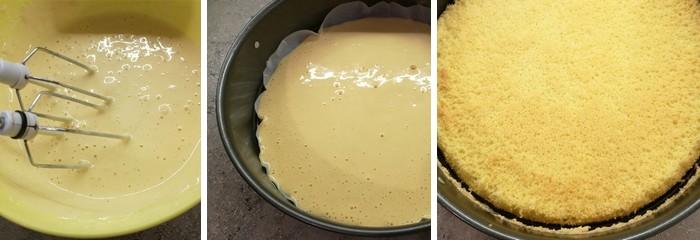 trasená torta - postup cesto
