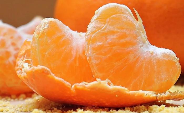 mandarinka a šupka