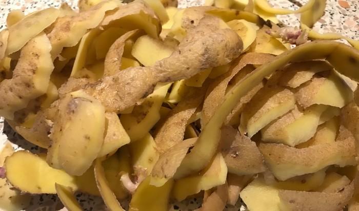 zemiakové šupky