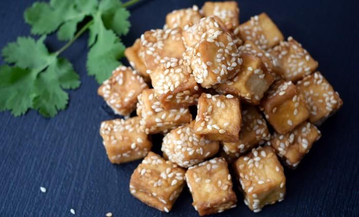 sezamové tofu náhrada mäsa