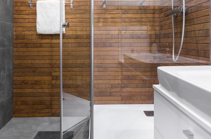 sprchovací kút na chalupe