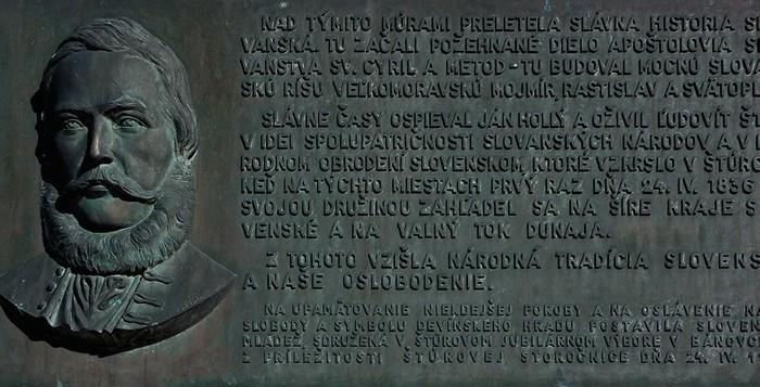 pamätná tabuľa Ludovít Štúr hrad Devín