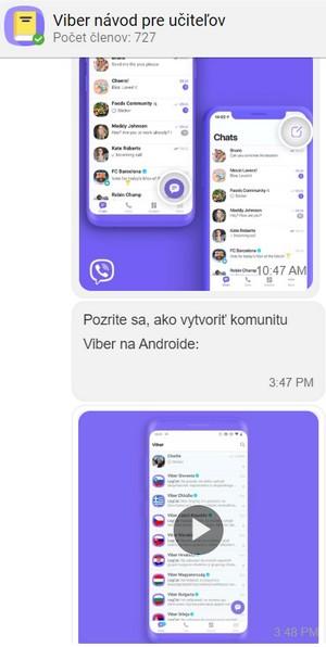 viber aplikácia škola