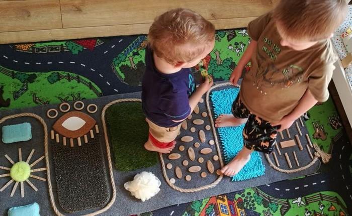 ploché nohy - akupresúrny koberec