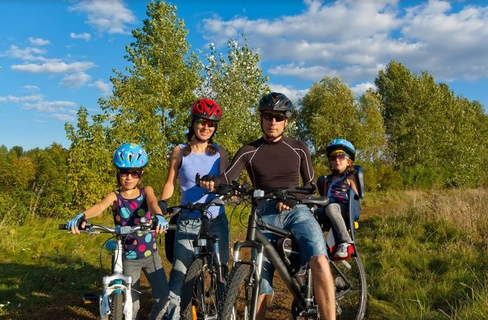 výlet na detskom bicykli