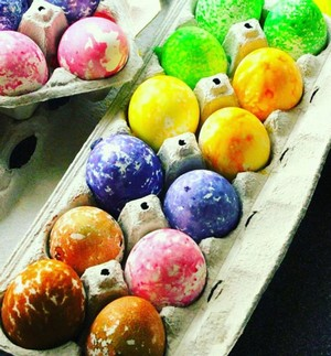 farbenie vajíčok