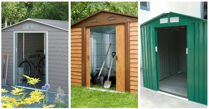 záhradné domčeky kovové plechové