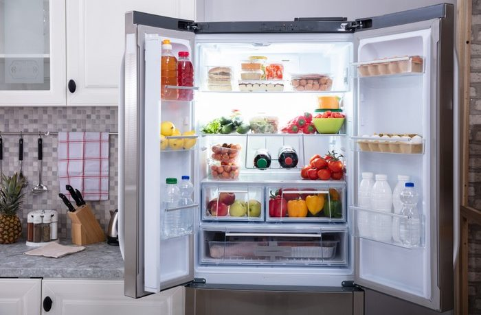 chladnička uskladnenie potravín pokazené jedlo