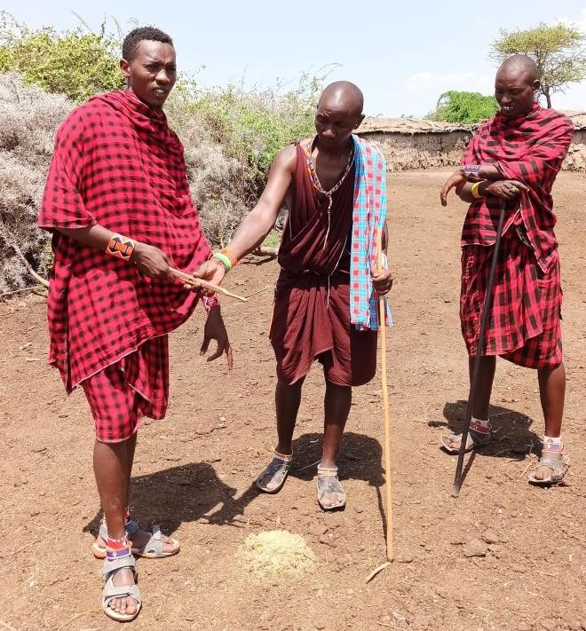 Keňa kmeň Masajov