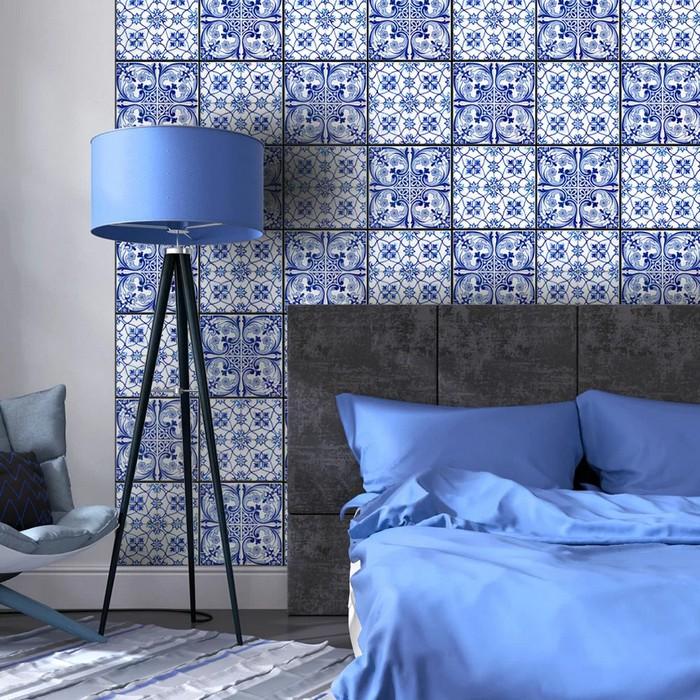 tapety do spálne modrý vzor