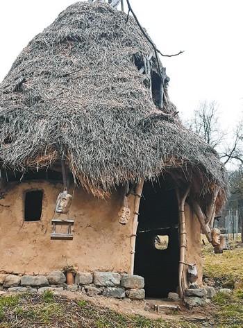 keltské obydlia na Honte
