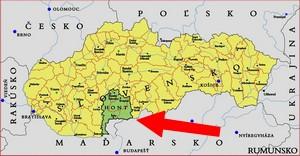 mapa Hont