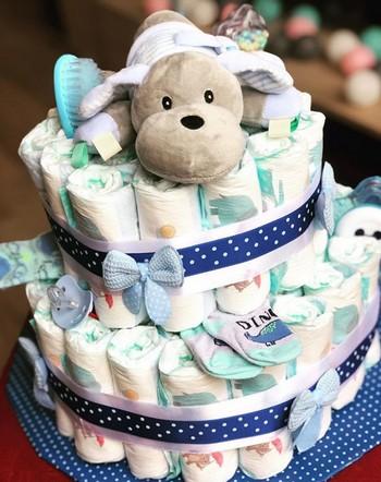 plienková torta pre čerstvú maminku a bábätko