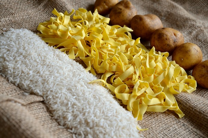 ryža cestoviny zemiaky