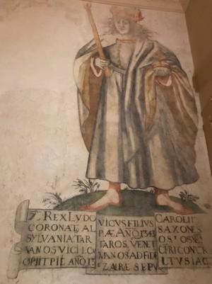 Haličský zámok maľba uhorského kráľa