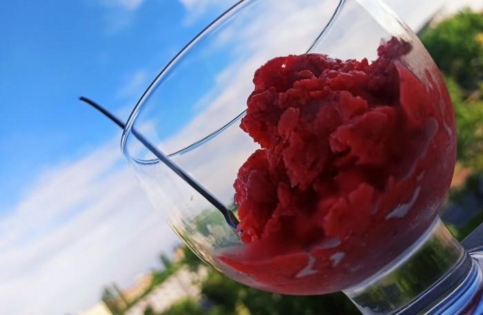 zdravé maškrty - jahodová dreň netradične