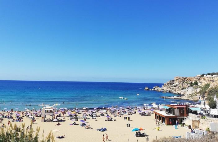 Golden Beach dopoludnia Malta