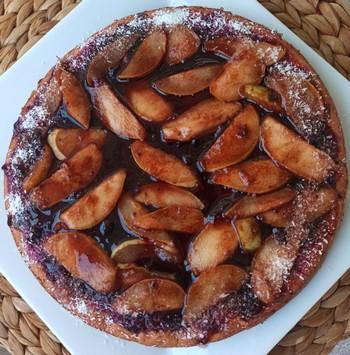 hruškovo-jablkový koláčik recept