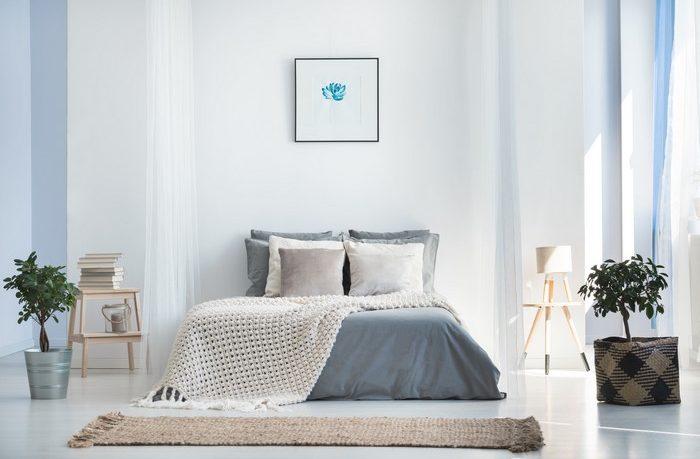 minimalistický štýl v spálni