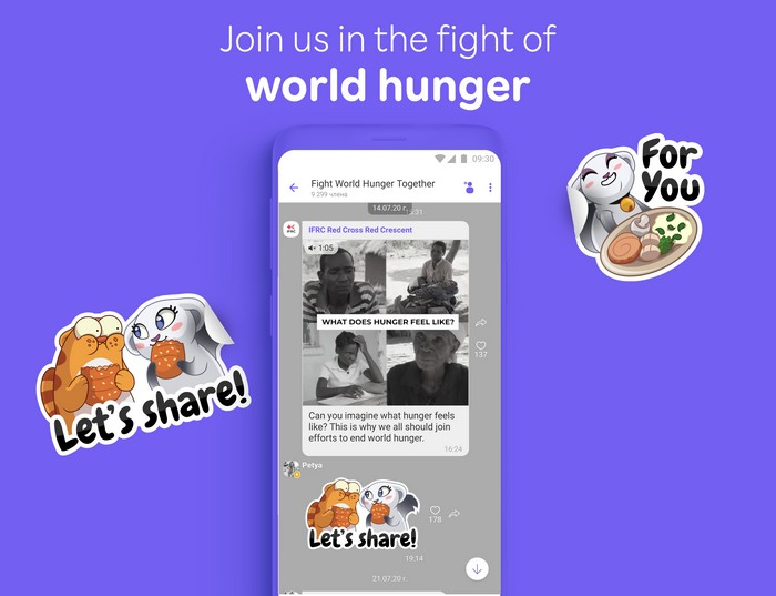 viber kampaň boja proti hladu