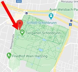 ZOO vo Viedni - hlavný vchod